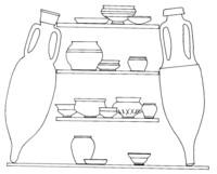 céramiques gauloises ou d'importation retrouvées sur Alet