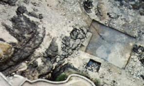 vue aérienne des bassins de la station de pompage