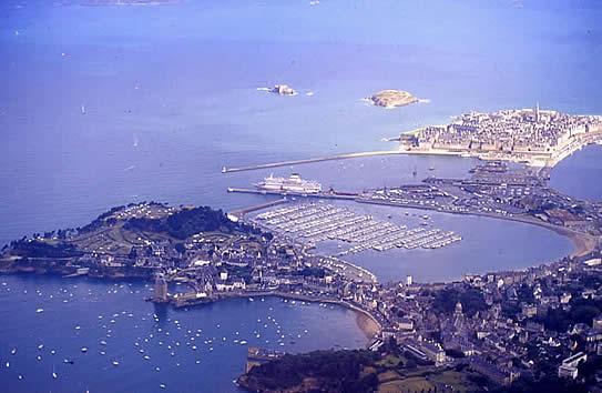 D'Alet à Saint-Malo, vue aérienne